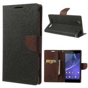 Sony Xperia T2 Ultra - etui na telefon i dokumenty - Fancy czarne