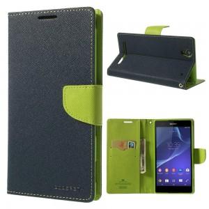 Sony Xperia T2 Ultra - etui na telefon i dokumenty - Fancy niebieskie