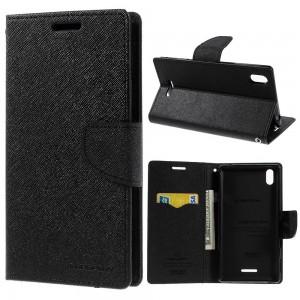 Sony Xperia T3 - etui na telefon i dokumenty - Fancy czarne