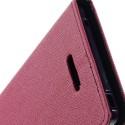 Sony Xperia T3 Portfel Etui – Fancy Ciemny Różowy
