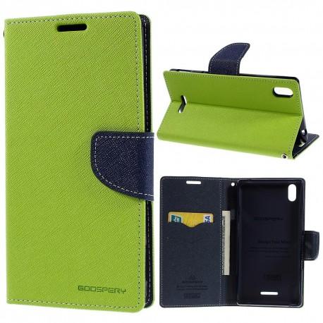Sony Xperia T3 - etui na telefon i dokumenty - Fancy zielone
