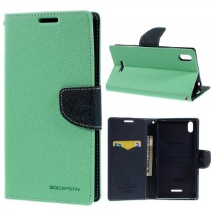 Sony Xperia T3 - etui na telefon i dokumenty - Fancy cyjan