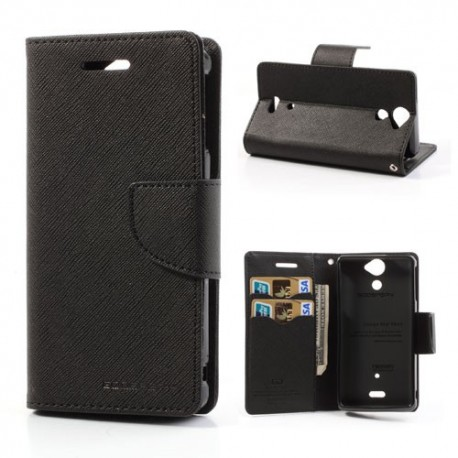 Sony Xperia V - etui na telefon i dokumenty - Fancy czarne