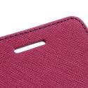 Sony Xperia V Portfel Etui – Fancy Ciemny Różowy