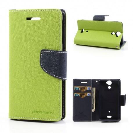 Sony Xperia V - etui na telefon i dokumenty - Fancy zielone