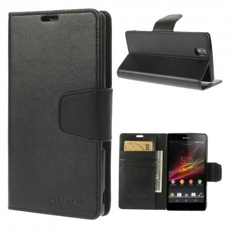 Sony Xperia Z - etui na telefon i dokumenty - Sonata czarne