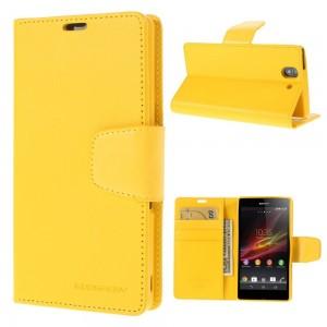 Sony Xperia Z - etui na telefon i dokumenty - Sonata żółte