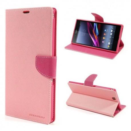Sony Xperia Z Ultra - etui na telefon i dokumenty - Fancy różowe