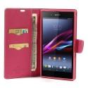 Sony Xperia Z Ultra Portfel Etui – Fancy Różowy