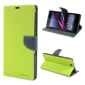 Sony Xperia Z Ultra - etui na telefon i dokumenty - Fancy zielone