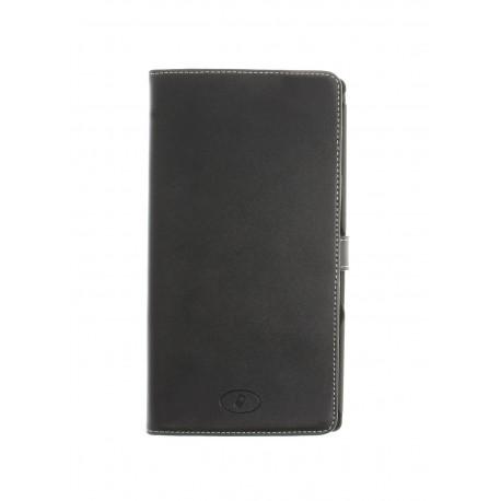 Sony Xperia Z Ultra - etui skórzane na telefon i dokumenty - Insmat czarne