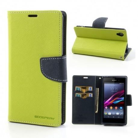 Sony Xperia Z1 - etui na telefon i dokumenty - Fancy zielone