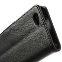 Sony Xperia Z1 Compact Portfel Etui – Litchi Czarne
