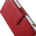 Sony Xperia Z1 Compact Portfel Etui – Litchi Czerwony