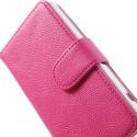 Sony Xperia Z1 Compact Portfel Etui – Litchi Różowy