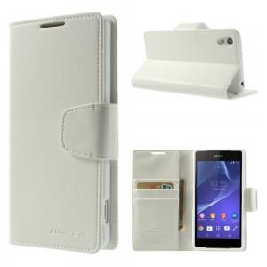Sony Xperia Z2 - etui na telefon i dokumenty - Sonata białe