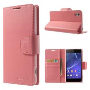 Sony Xperia Z2 - etui na telefon i dokumenty - Sonata różowe