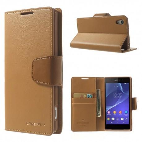Sony Xperia Z2 - etui na telefon i dokumenty -Sonata brązowe