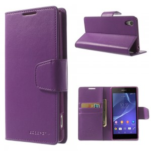 Sony Xperia Z2 - etui na telefon i dokumenty - Sonata purpurowe