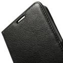 Sony Xperia Z2 Portfel Etui – Litchi Czarne