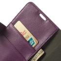 Sony Xperia Z2 Portfel Etui – Litchi Purpurowy