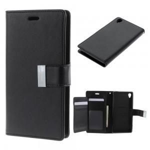 Sony Xperia Z3 - etui na telefon i dokumenty - Rich Diary czarne