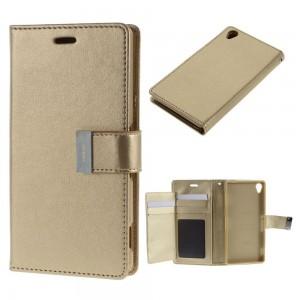 Sony Xperia Z3 - etui na telefon i dokumenty - Rich Diary złote