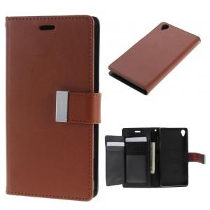 Sony Xperia Z3 - etui na telefon i dokumenty - Rich Diary brązowe
