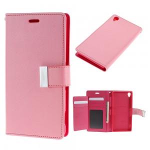 Sony Xperia Z3 - etui na telefon i dokumenty - Rich Diary różowe