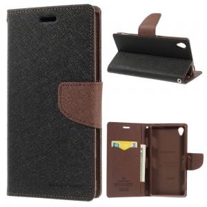 Sony Xperia Z3 - etui na telefon i dokumenty - Fancy czarne