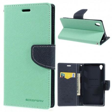 Sony Xperia Z3 - etui na telefon i dokumenty - Fancy cyjan