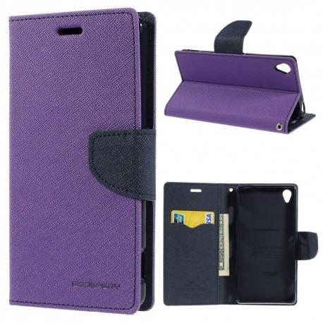 Sony Xperia Z3 - etui na telefon i dokumenty - Fancy purpurowe
