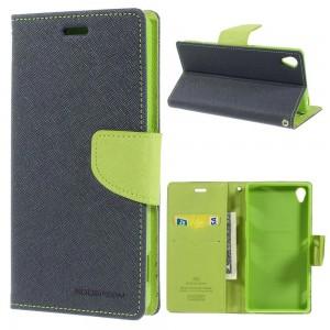 Sony Xperia Z3 - etui na telefon i dokumenty - Fancy niebieskie