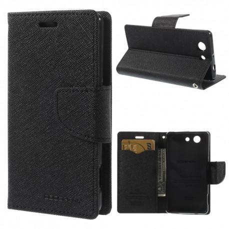Sony Xperia Z3 Compact - etui na telefon i dokumenty - Fancy czarne
