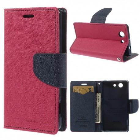 Sony Xperia Z3 Compact - etui na telefon i dokumenty - Fancy różowe