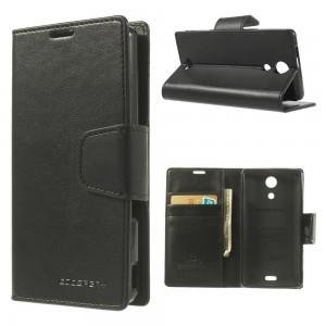Sony Xperia ZR - etui na telefon i dokumenty - Sonata czarne