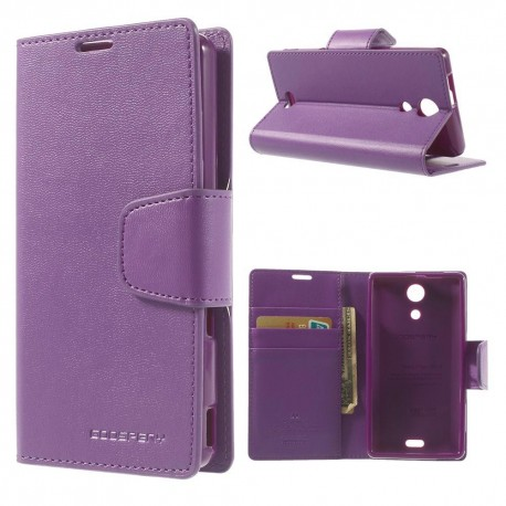 Sony Xperia ZR - etui na telefon i dokumenty - Sonata purpurowe