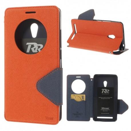 Asus Zenfone 6 - etui na telefon i dokumenty - Roar Korea pomarańczowe