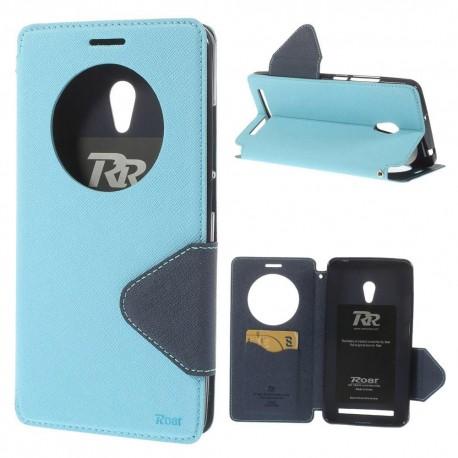 Asus Zenfone 6 - etui na telefon i dokumenty - Roar Korea niebieskie