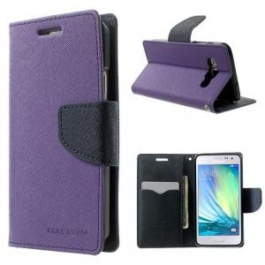 Samsung Galaxy A3 - etui na telefon i dokumenty - Fancy purpurowe