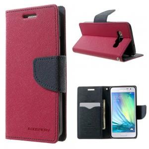 Samsung Galaxy A3 - etui na telefon i dokumenty - Fancy ciemnoróżowy