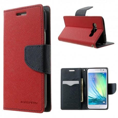 Samsung Galaxy A3 - etui na telefon i dokumenty - Fancy czerwone (KR)