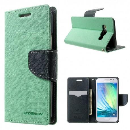 Samsung Galaxy A3 - etui na telefon i dokumenty - Fancy cyjan