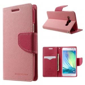 Samsung Galaxy A3 - etui na telefon i dokumenty - Fancy różowe