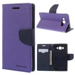 Samsung Galaxy A5 - etui na telefon i dokumenty - Fancy purpurowe
