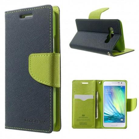 Samsung Galaxy A5 - etui na telefon i dokumenty - Fancy niebieskie (KR)