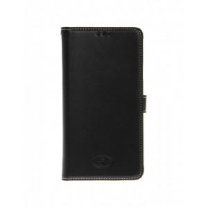 Samsung Galaxy Note 4 - etui skórzane na telefon i dokumenty - Insmat czarne
