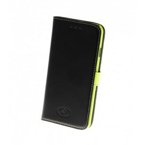 Apple iPhone 6 - etui na telefon i dokumenty - Insmat czarne / zielone