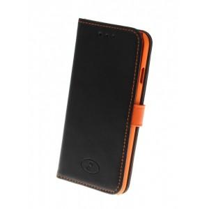 Apple iPhone 6 - etui na telefon i dokumenty - Insmat czarne / pomarańczowe