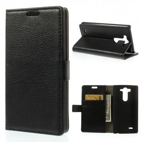 LG G3 S - etui na telefon i dokumenty - Ekokóra czarne